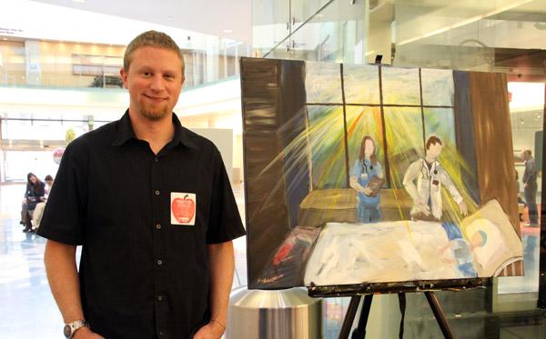 painting at hospital